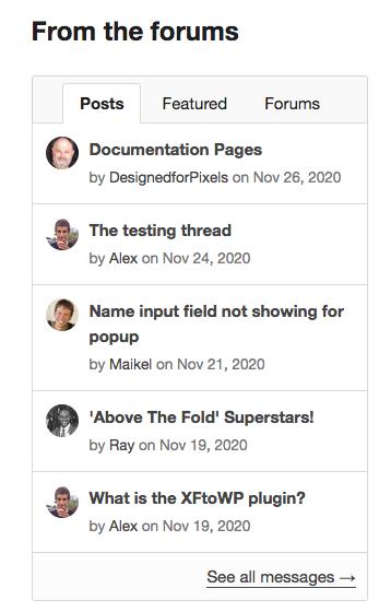 XFtoWP forum content widget