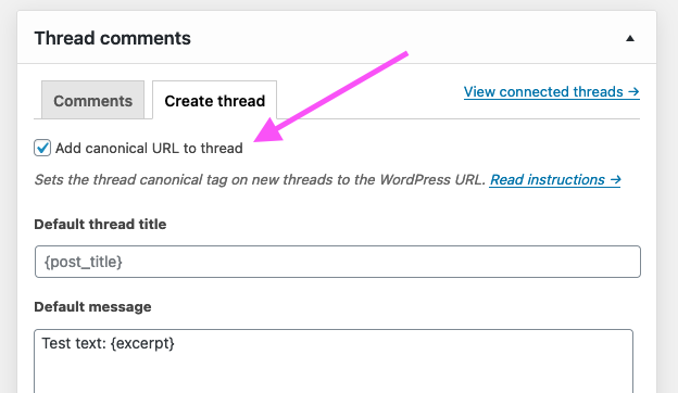 Enable canonical URLs from XFtoWP