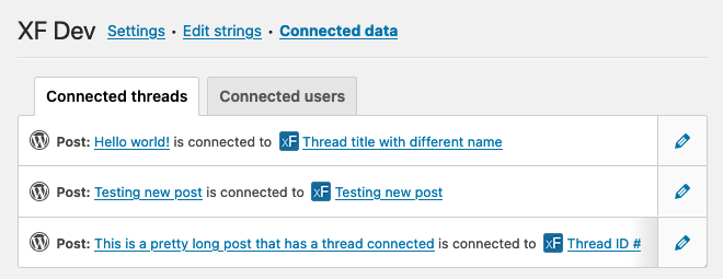 See connected forum users and threads