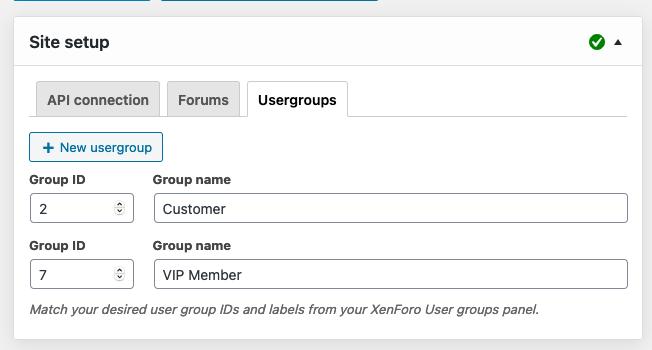 XFtoWP usergroup creation